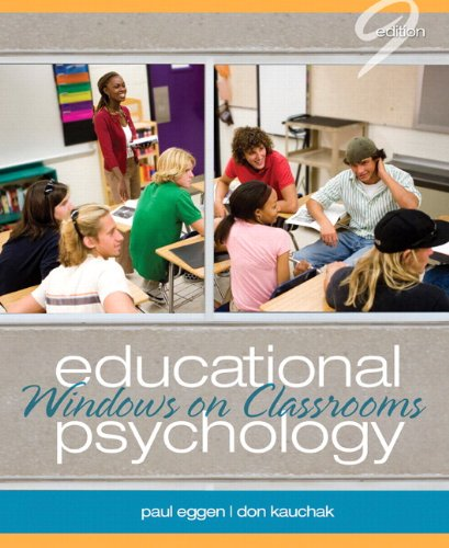 Educational Psychology Windows on Classrooms 9th 2013 edition cover