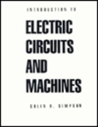 Introduction to Electric Circuits and Machines  1st 1992 edition cover