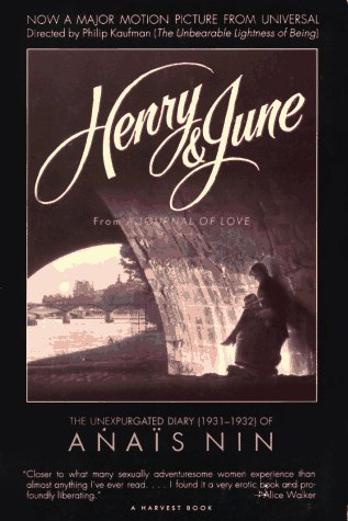 Henry and June From a Journal of Love - The Unexpurgated Diary of Ana�s Nin 1931-1932  1990 edition cover