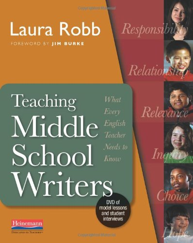 Teaching Middle School Writers Lessons and Routines That Give Adolescents Compelling Reasons to Write  2010 9780325026572 Front Cover