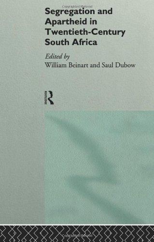Segregation and Apartheid in Twentieth Century South Africa   1995 edition cover