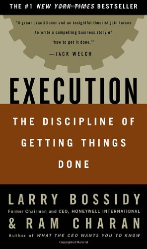 Execution The Discipline of Getting Things Done  2002 9780609610572 Front Cover
