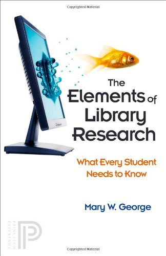 Elements of Library Research What Every Student Needs to Know  2008 edition cover