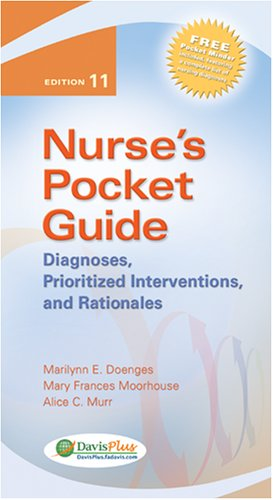 Nurse's Pocket Guide Diagnoses, Prioritized Interventions, and Rationales 11th 2008 (Revised) 9780803618572 Front Cover