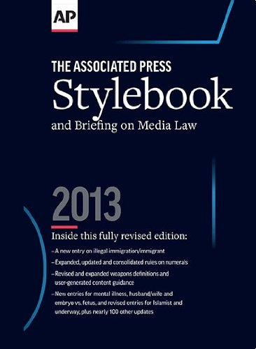 ASSOC.PR.STYLEBOOK+BRIEFING ON...2013   N/A 9780917360572 Front Cover