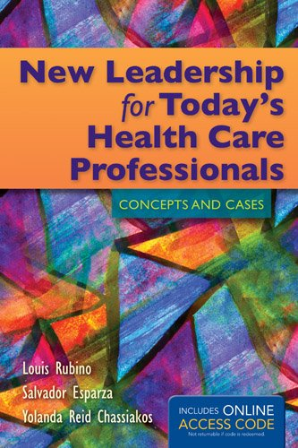 New Leadership for Today's Health Care Professionals   2014 edition cover