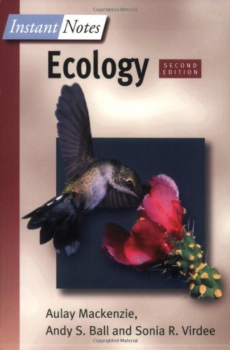 Instant Notes in Ecology  2nd 2001 (Revised) edition cover