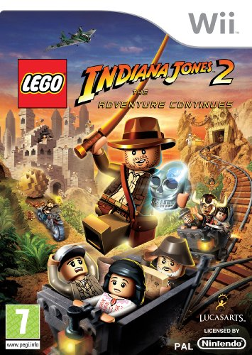 Lego Indiana Jones 2: The Adventure Continues (Wii) Nintendo Wii artwork