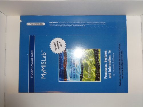 Processes, Systems, and Information   2013 9780132771573 Front Cover