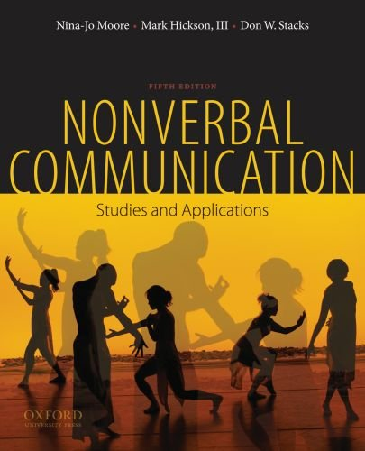 Nonverbal Communication Studies and Applications 5th 2010 edition cover