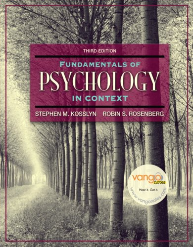 Fundamentals of Psychology in Context  3rd 2007 (Revised) 9780205507573 Front Cover
