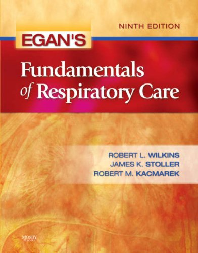 Egan's Fundamentals of Respiratory Care  9th 2008 edition cover