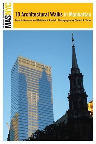 Municipal Art Society of New York 10 Architectural Walks in Manhattan  2009 edition cover