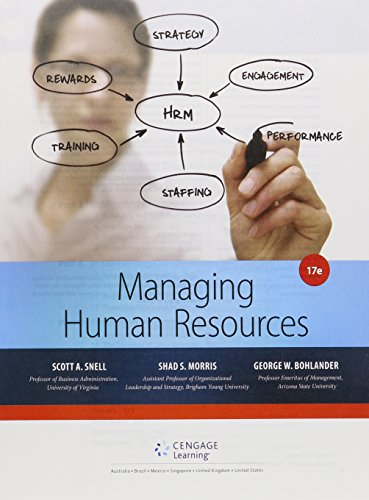 Bundle: Managing for Human Resources, Loose-Leaf Version, 17th + LMS Integrated for MindTap Management, 1 Term (6 Months) Printed Access Card  17th 2016 9781305778573 Front Cover