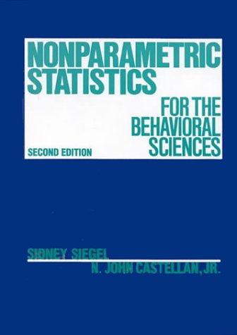 Nonparametric Statistics for the Behavioral Sciences  2nd 1988 edition cover