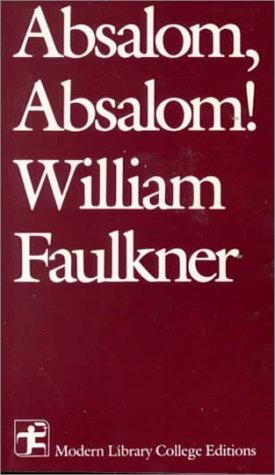 Absalom, Absalom!   1988 edition cover