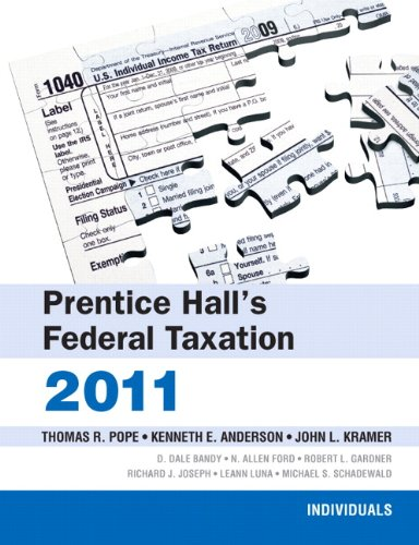 PH's Fed Tax Individuals 2011  24th 2011 edition cover