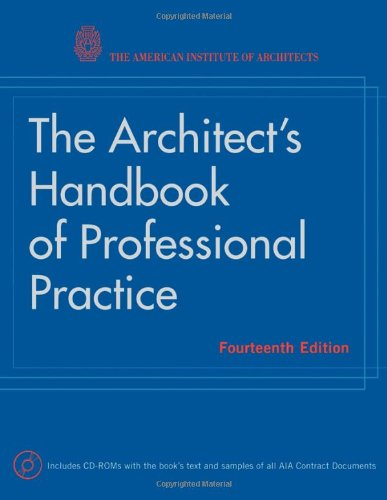 Architect's Handbook of Professional Practice  14th 2008 edition cover