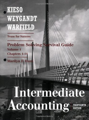 Intermediate Accounting Problem Solving Survival Guide, Chapters 1-14 13th 2010 (Guide (Instructor's)) edition cover