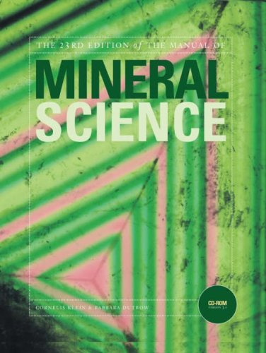 Manual of Mineral Science  23rd 2008 (Revised) edition cover