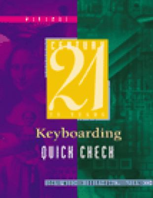 Century 21 Keyboarding Quick Check  6th 2000 (Revised) 9780538691574 Front Cover
