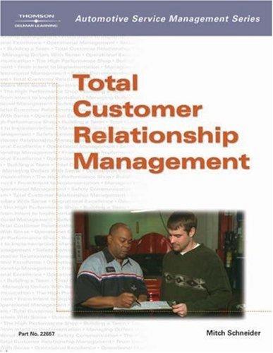 Automotive Service Management Total Customer Relationship Management  2003 9781401826574 Front Cover