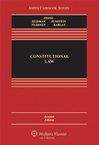 Constitutional Law  7th 2013 (Revised) 9781454817574 Front Cover