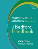 Working With Sources: Exercises for the Bedford Handbook  2014 edition cover