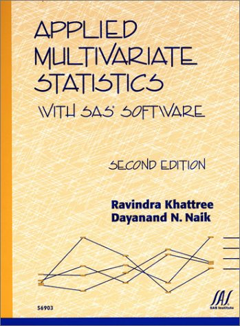 Applied Multivariate Statistics with SAS Software  2nd 1999 edition cover