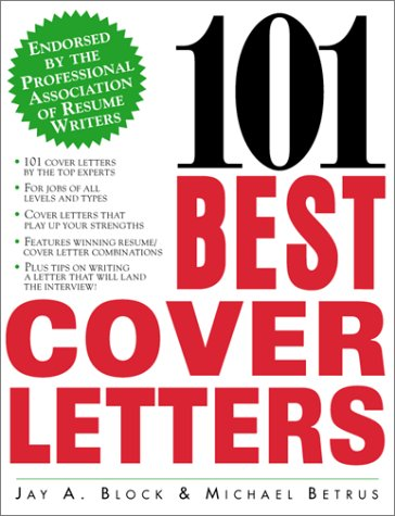 101 Best Cover Letters   1999 9780071342575 Front Cover