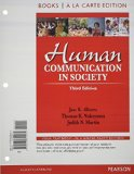 Human Communication in Society, Books a la Carte Edition  3rd 2013 edition cover