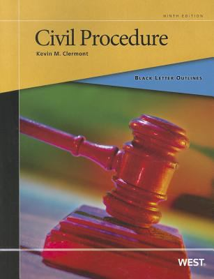 Black Letter Outline on Civil Procedure  9th 2011 (Revised) edition cover