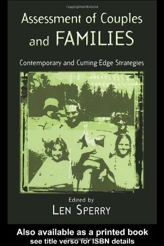 Assessment of Couples and Families Contemporary and Cutting-Edge Strategies  2004 edition cover