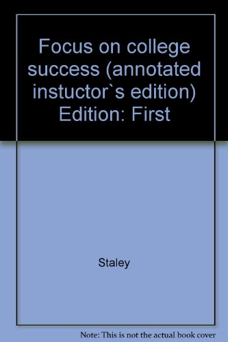 FOCUS ON COLL.SUCCESS-CONCISE N/A 9780495571575 Front Cover