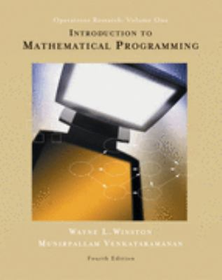 Introduction to Mathematical Programming Applications and Algorithms 4th 2003 9780534423575 Front Cover