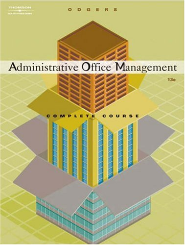 Administrative Office Management, Complete Course  13th 2005 (Revised) edition cover