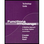 Graphing Technology/ Excel Guide : Used with ... Crauder-Functions and Change: A Modeling Approach to College Algebra 2nd 2003 9780618219575 Front Cover