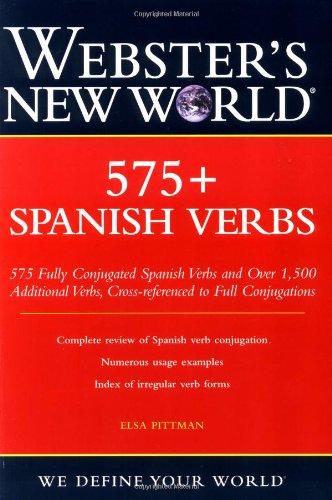 Webster's New World 575+ Spanish Verbs   2004 edition cover