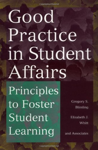 Good Practice in Student Affairs Principles to Foster Student Learning  1999 edition cover