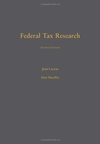 Federal Tax Research  2nd 2011 edition cover