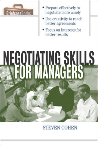 Negotiating Skills for Managers   2002 edition cover