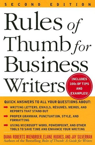 Rules of Thumb for Business Writers  2nd 2005 (Revised) edition cover