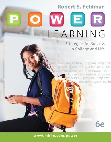P. O. W. E. R. Learning Strategies for Success in College and Life 6th 2014 edition cover