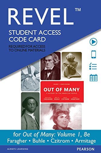 REVEL -- Access Card -- for Out of Many, Volume 1   2014 edition cover