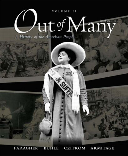 Out of Many A History of the American People 6th 2009 edition cover