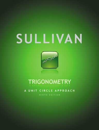 Trigonometry A Unit Circle Approach 9th 2012 edition cover