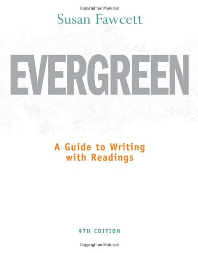 Evergreen A Guide to Writing with Readings 9th 2011 edition cover
