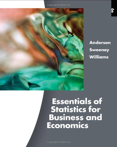 Essentials of Statistics for Business and Economics  6th 2011 edition cover
