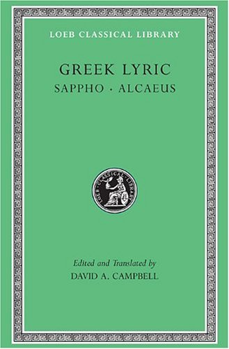 Greek Lyric Sappho - Alcaeus  1982 (Revised) edition cover