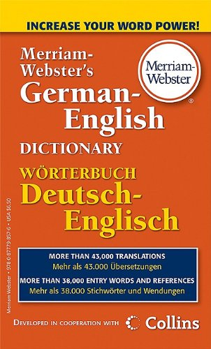 Merriam-Webster's German-English Dictionary   2010 edition cover